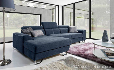Italian Design Corner Sofa Bed Asti