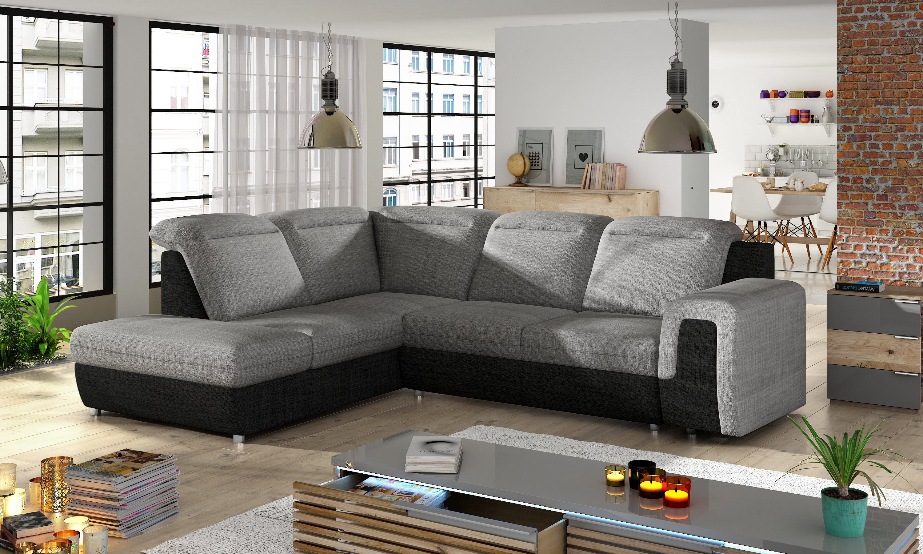 New Design Corner Sofa Bed Panama L Aberdeen Furniture