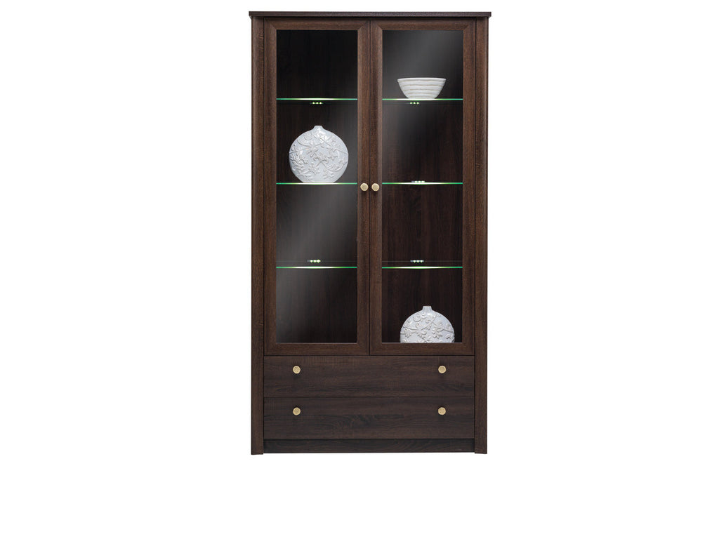 GLASS DOOR CABINET WITH LED LIGHTS-FIN 22