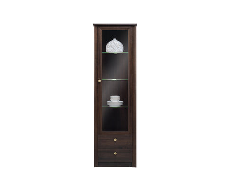 GLASS CABINET WITH LED LIGHTS-FIN 23