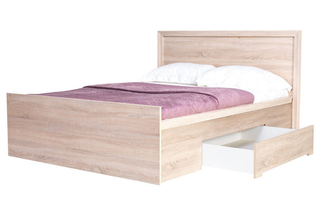 Finesse Bed with storage for mattress 140x200 cm - sonoma oak