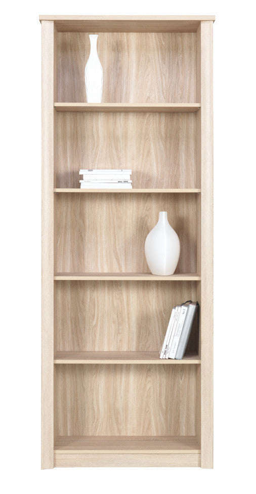 Finesse Bookcase - narrow -Sonoma Oak