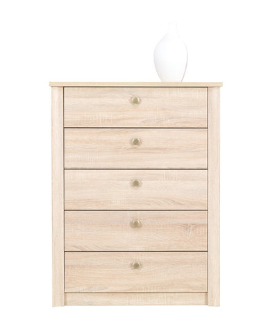 Finesse Chest of 5 drawers - Sonoma Oak