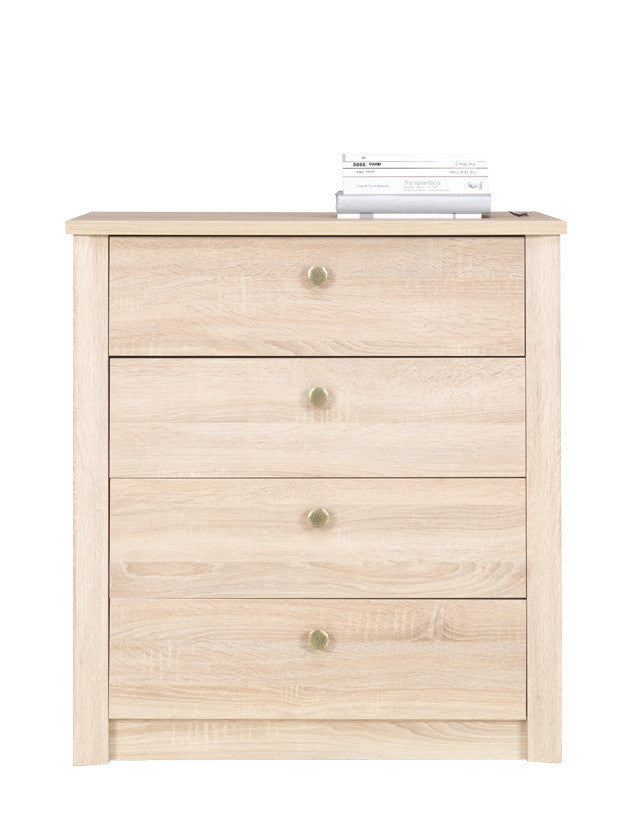 Finesse Chest of 4 drawers - Sonoma Oak