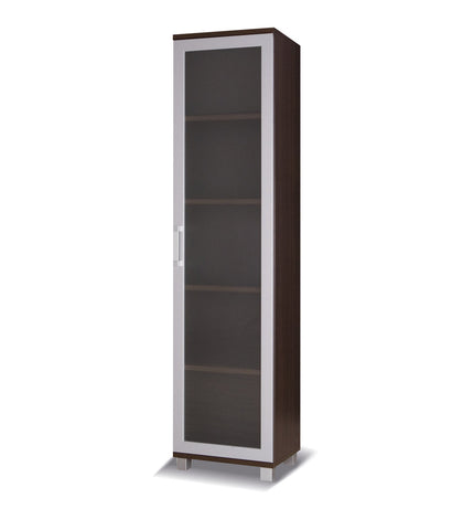 Maximus- M11 - 1 glass door cabinet-chestnut wenge