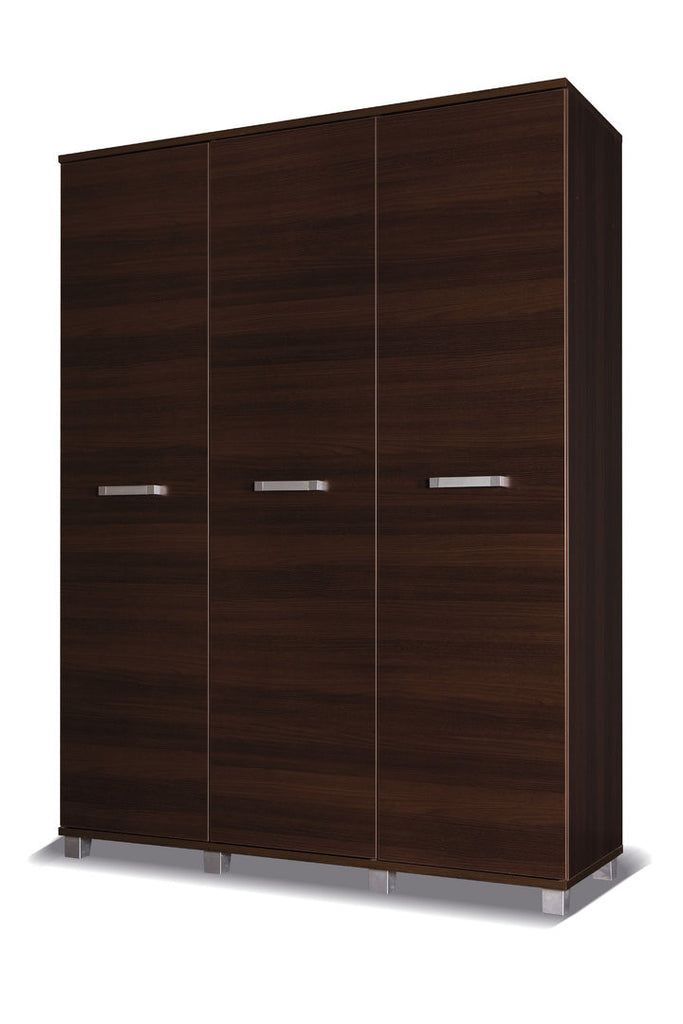 Maximus - 3 door wardrobe - chestnut wenge