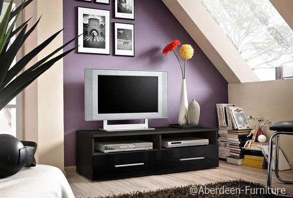TV unit Bern in black