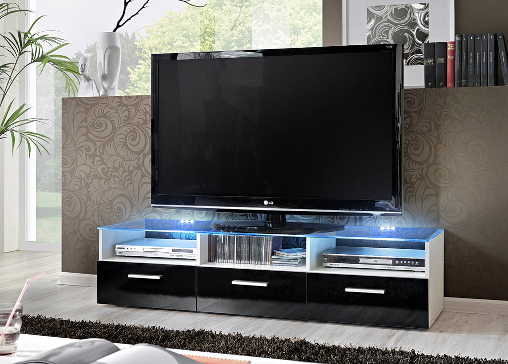TV Unit Fresh  white & black