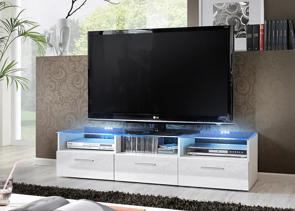 TV unit Fresh white gloss
