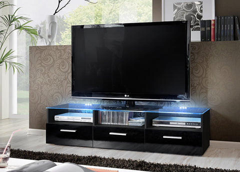 Fresh TV Unit Black & LED lighting