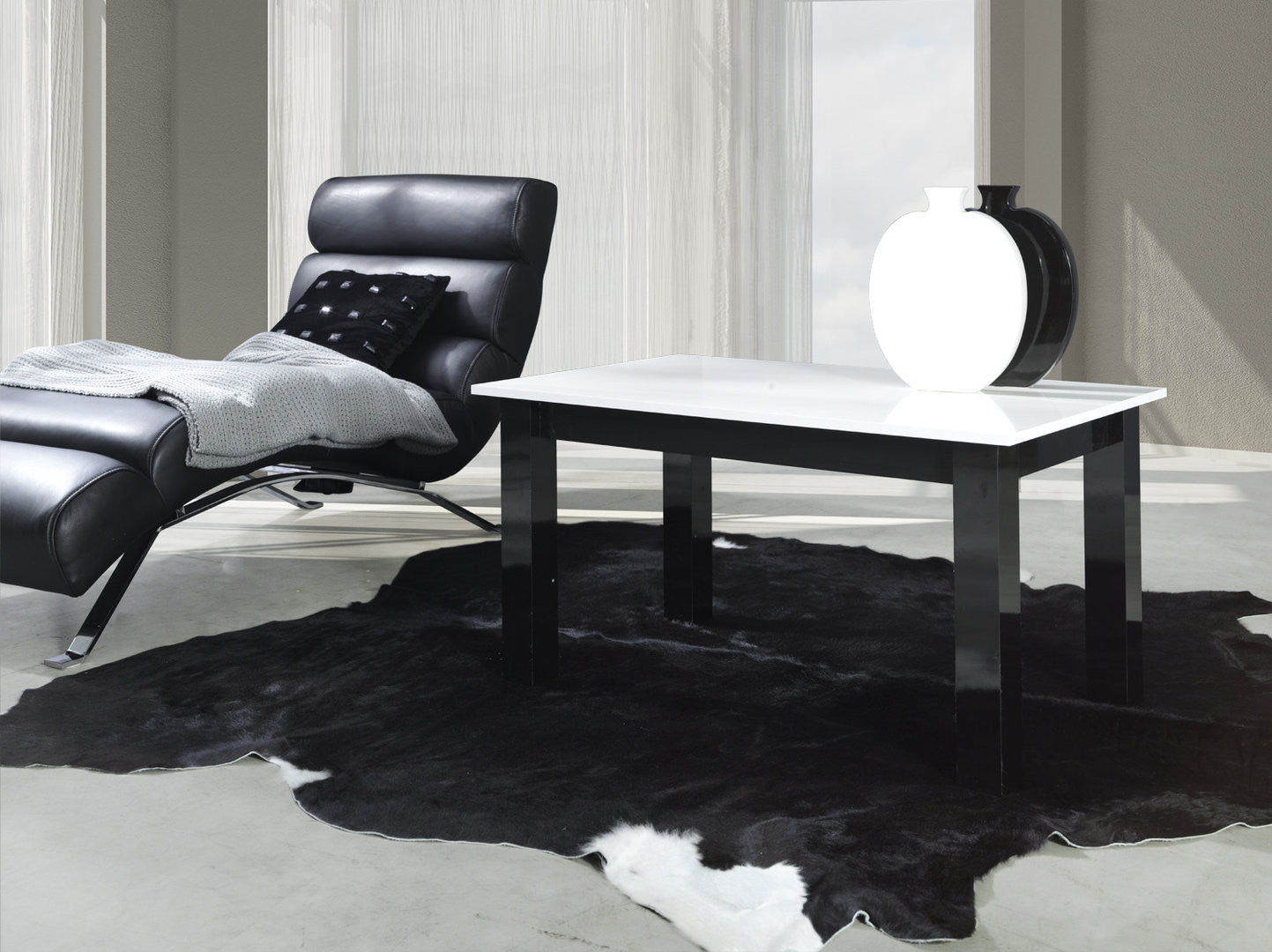 Coffee Table T Glossy Whiteglossy Black AberdeenFurniture - Glossy black coffee table