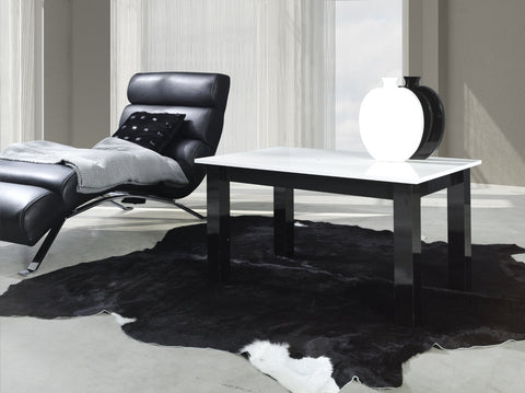 Coffee Table T24 glossy white/glossy black