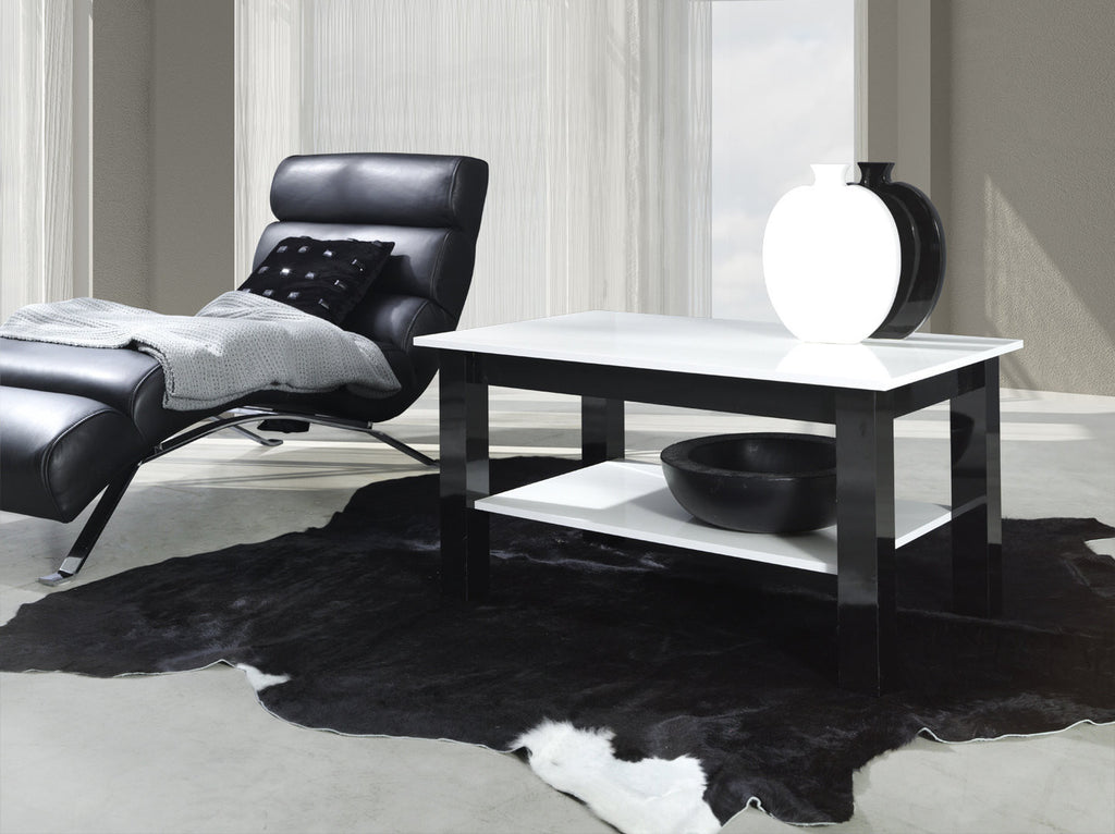 Coffee Table T25 glossy white/glossy black