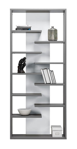 Bookcase Zonda 8- Grey