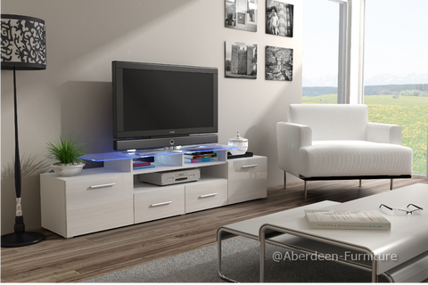 TV unit Max in white gloss