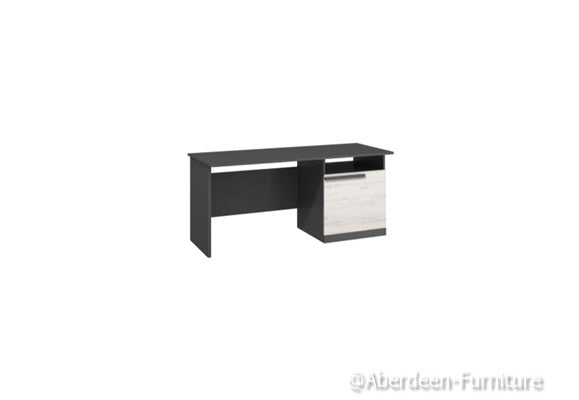 Trend - desk - Anderson Pine & Graphite Grey