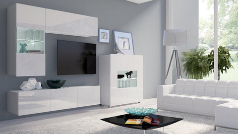 Calabrini Living Room Set - III White Gloss