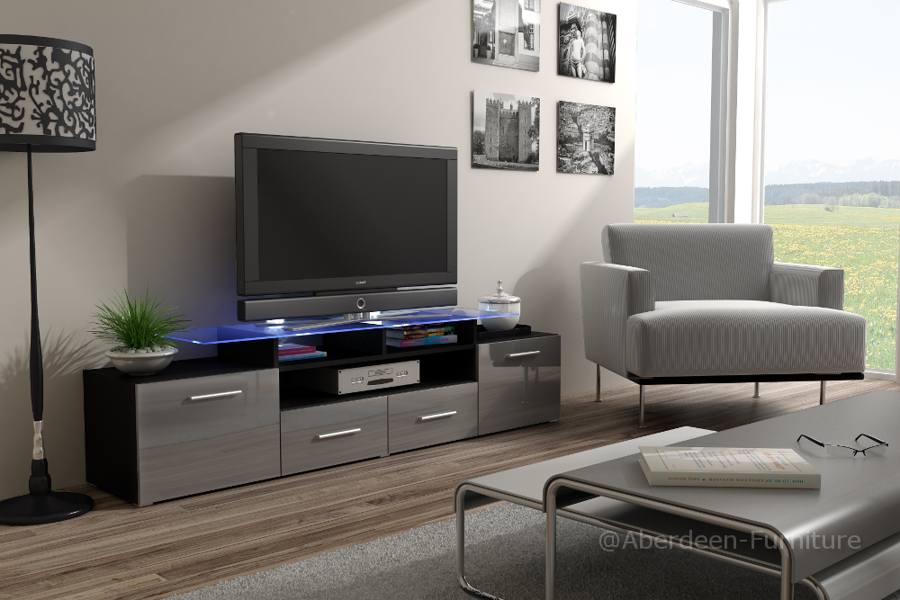 TV unit Max grey fronts