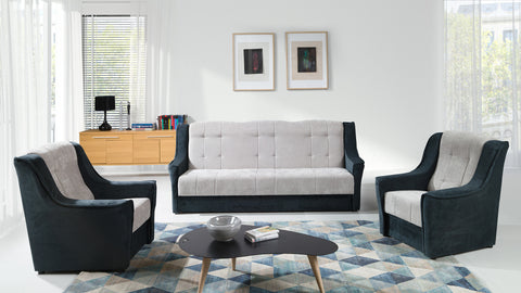 Niagara Sofa Bed+Armchair in Grey
