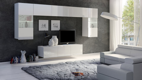 Calabrini Living Room Set - II-White Gloss
