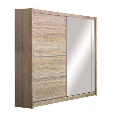 VISTA Wardrobe 180cm  Oak/Mirror