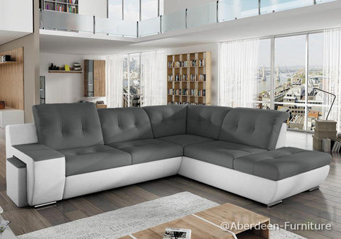Corner Sofa Bed Galaxy A with footstool