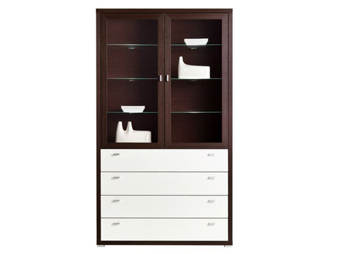 CABINET-GLASS-DOOR-4 DRAWERS-KEN 1