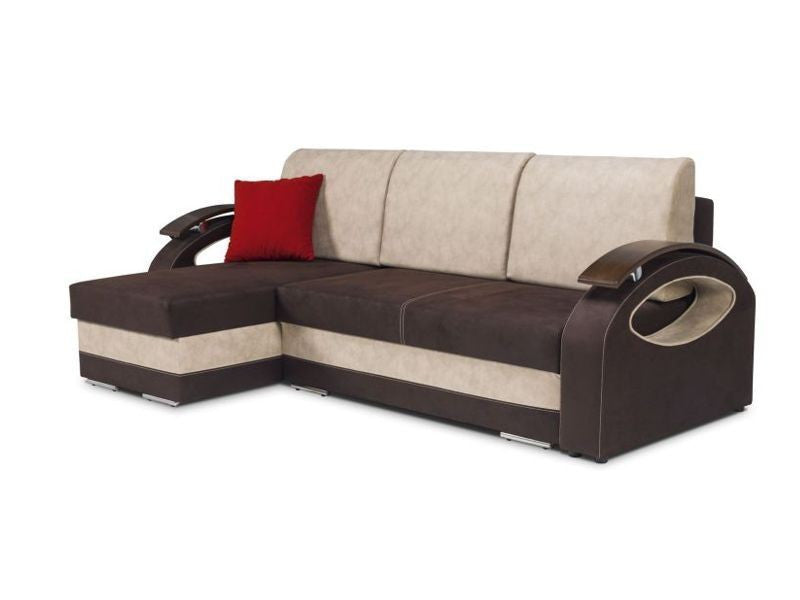 Corner sofa bed livia aberdeen furniture for Sofa bed dimensions unfolded