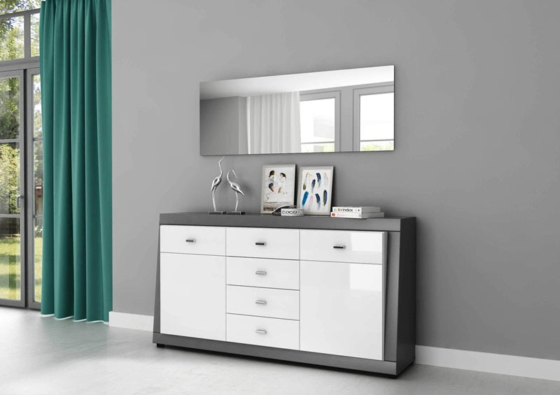 Magnum Sideboard- Graphite/White Gloss