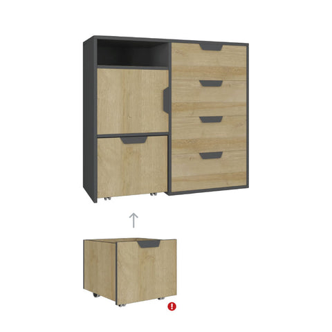 Nano NA8 Chest of Drawers-Oak Riviera