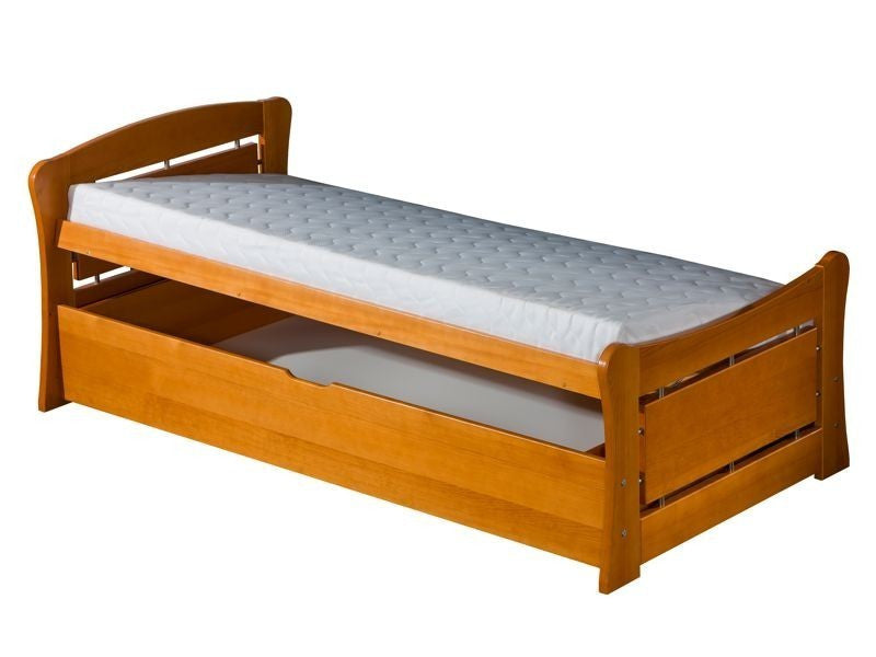 Single bed Pat1 with storage -you can choose a word or name which will be milled.