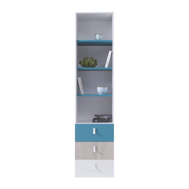 Planet Bookcase With Drawers PL6