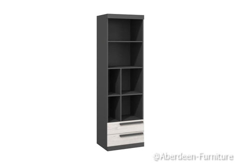 Trend - Tall Bookcase - Anderson Pine & Graphite Grey
