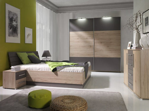 Bedroom Set Dione San Remo Oak/Grey