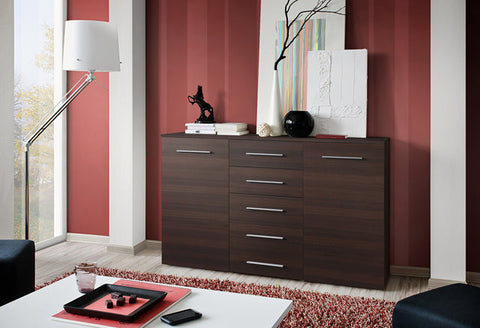 Buy a large sideboard -wenge-5 drawers
