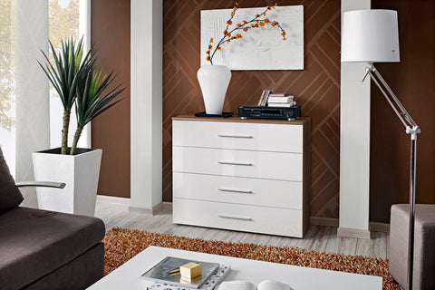 Chest of 4 Drawers-White