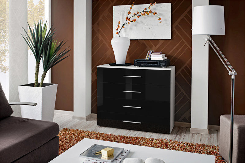 Chest of 4 Drawers-Black