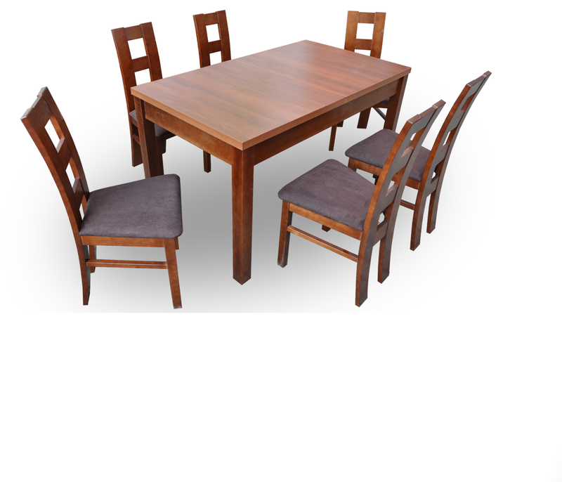 Dining Set Table + 6 Chairs