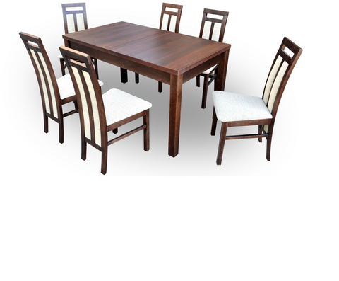 Dining Set Table+6 chairs walnut