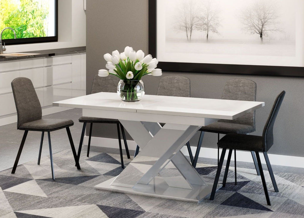 Dining table Vigo II White Gloss Extendable (140-180cm)