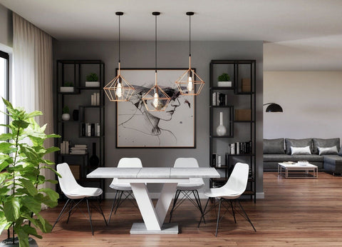 Dining table Vigo I Extendable (120-160cm)the top looks like concrete