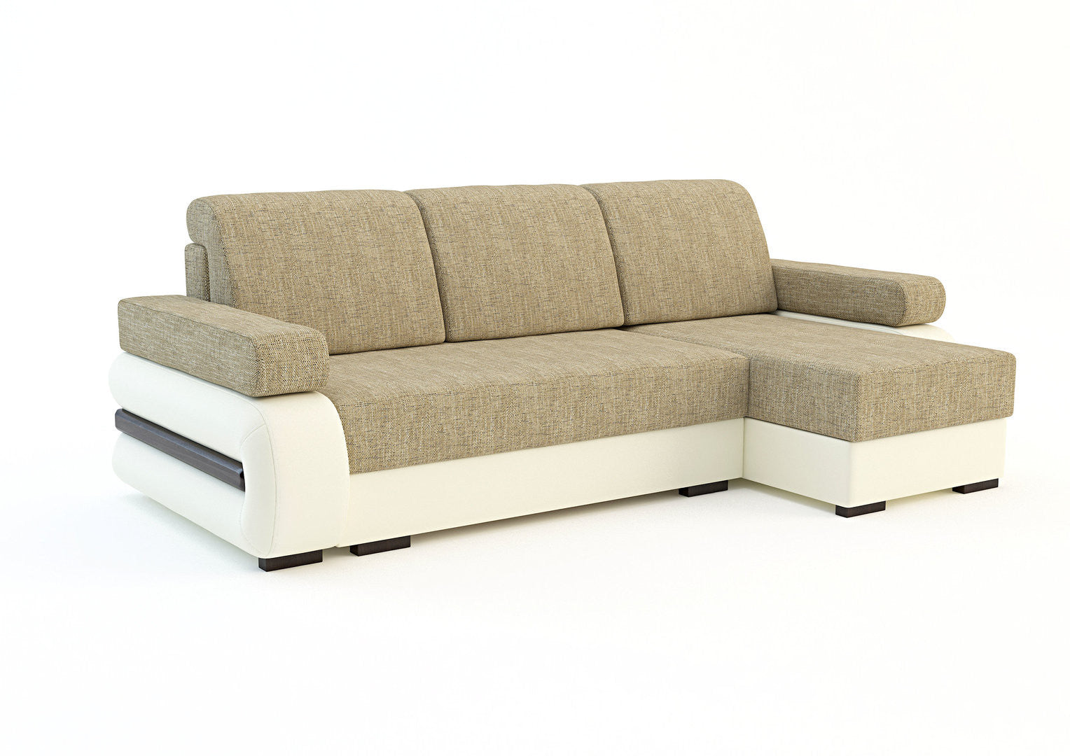 Corner sofa bed tigra for Sofa bed dimensions unfolded