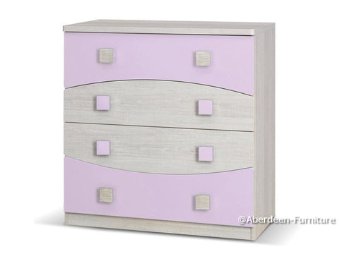 Angus Chest of Drawers Purple