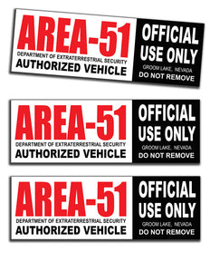 Area 51 UFO Alien Bumper Sticker from Area51 - Starbase9