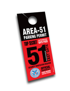 Area 51 Official Secret UFO Area51 Parking Permit - Starbase9