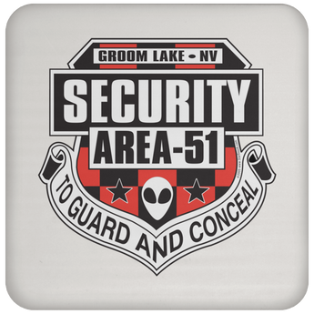 Area 51 UFO Security - UN5677 Coaster - Starbase9