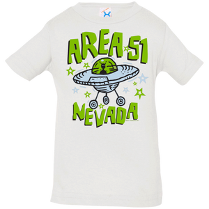 Area 51 Cartoon UFO - 3322 Infant Jersey T-Shirt - Starbase9