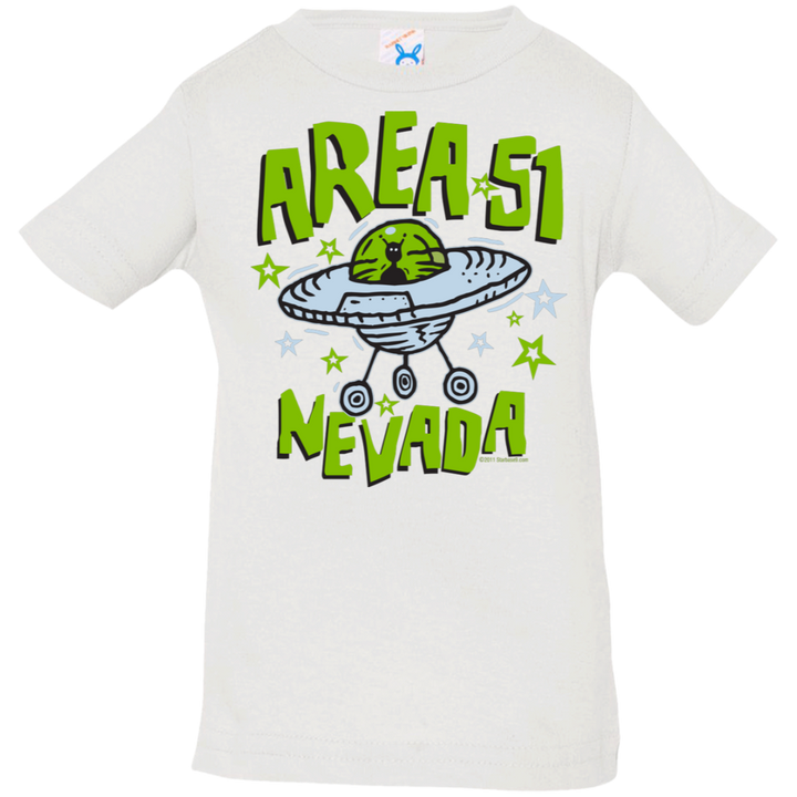 Area 51 Cartoon UFO - 3322 Infant Jersey T-Shirt - Area 51 UFO Souvenirs Gifts T-Shirts
