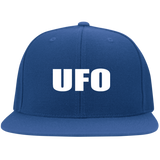 UFO - 6297F Flat Bill Twill Flexfit Cap - Area 51 UFO Souvenirs Gifts T-Shirts