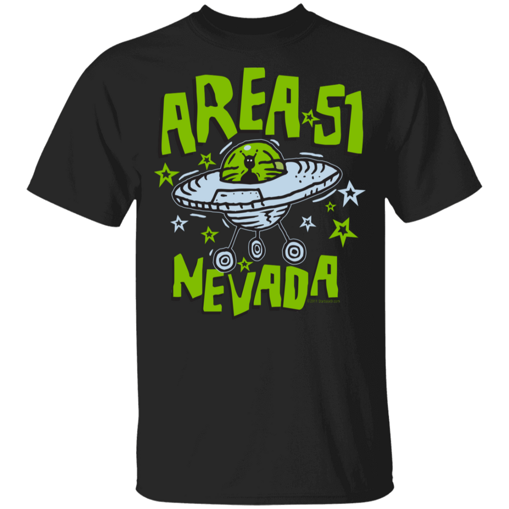 Area 51 Cartoon UFO - G500B Youth 5.3 oz 100% Cotton T-Shirt - Starbase9
